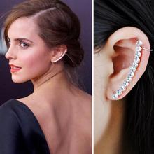 1 pcs Fashion Elegant Zircon Long Star Clip Earrings for Wom