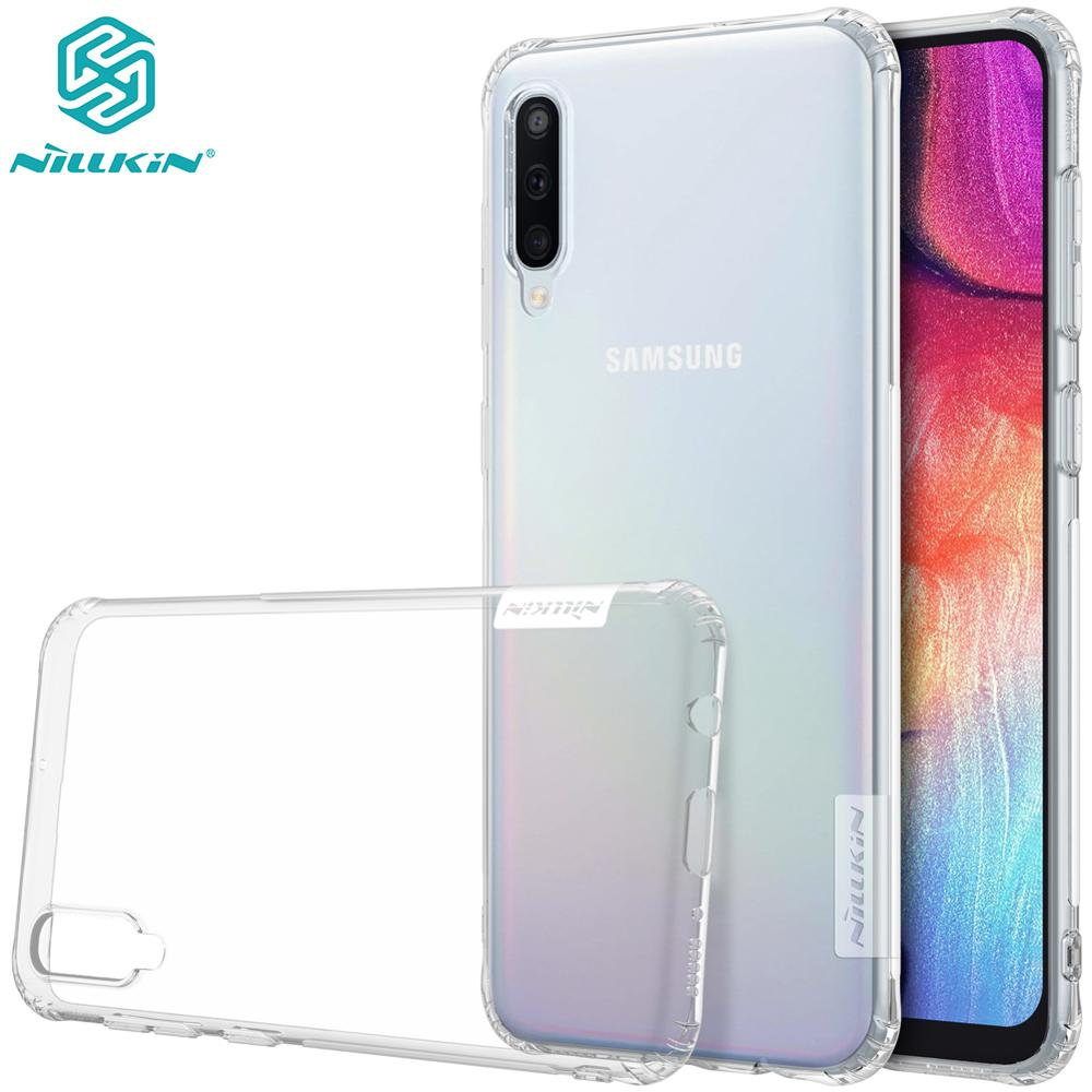 Case For Samsung A50 Case Samsung Galaxy A30 A70 Nillkin Nature soft TPU clear Transparent Back Cover with Retail Package(China)