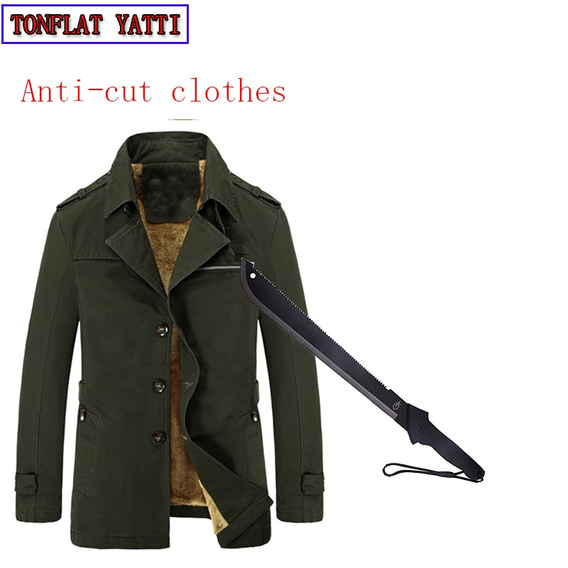 New Self Defense Tactical Anti Cut Knife Cut Resistant Suit Blazer Anti Stab Proof Long Sleeved Military Security Fleece Jacket