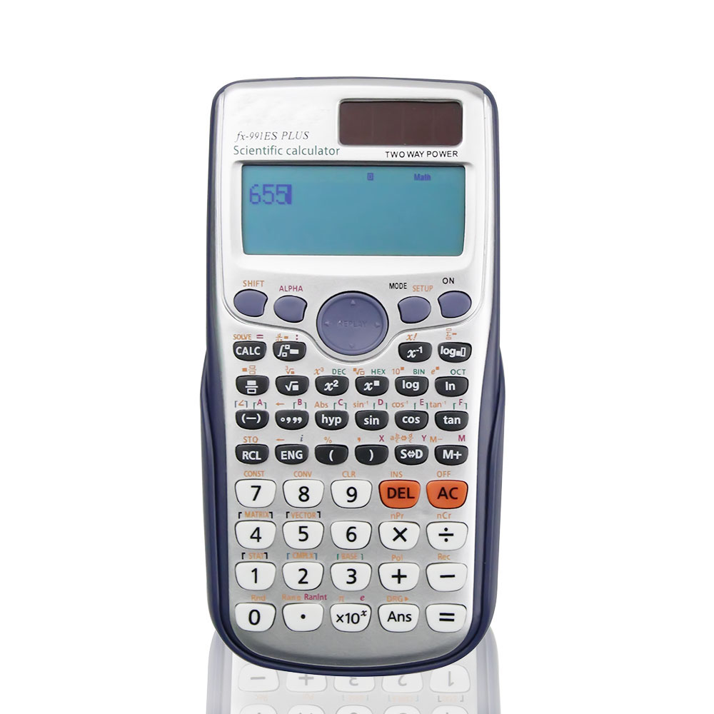 Handheld Student's Scientific Calculator LED Display Pocket Functions Calculator For Teaching For Students 991ES PLUS deli 1541a calculator teaching resources mathematics big button calculator large screen calculator finance office 1pcs