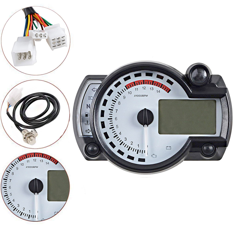New Motorcycle Meter Multifunction LCD Digital Tachometer Odometer 15000rpm Adjustable MAX 299KM H KOSO RX2N Similar