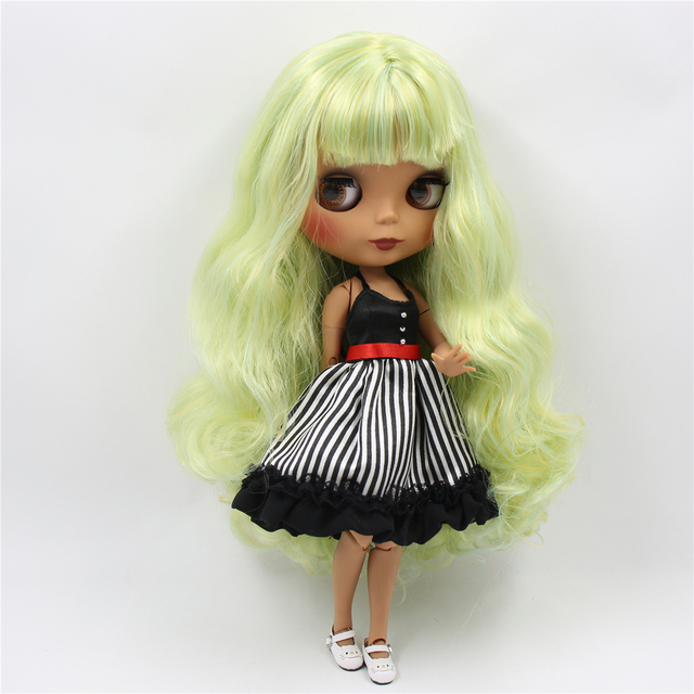 TBL Neo Blythe Doll Green Yellow Hair Jointed Body