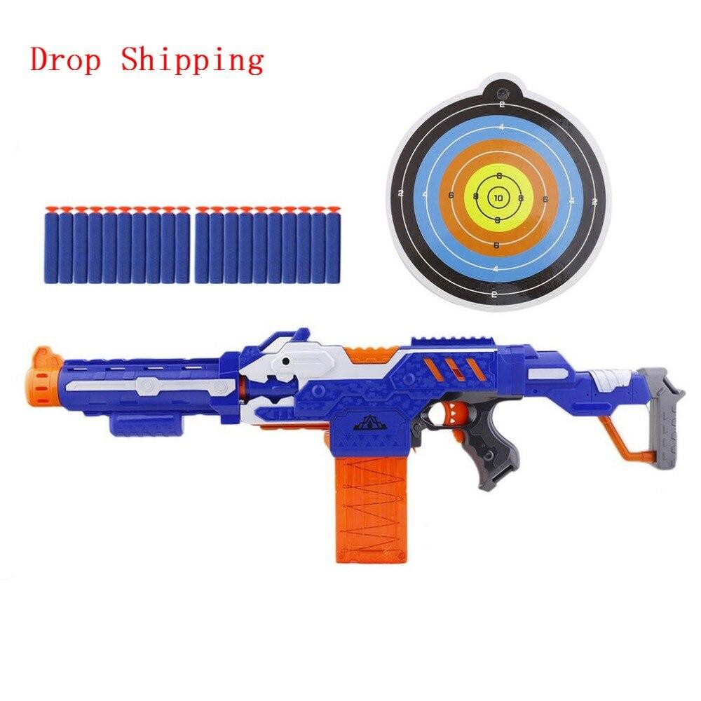 Livraison directe enfants électrique balle molle jouet pistolet pour enfants garçon armes pistolet Sniper fusil 20 balle 1 cible tirer pistolet jouets orbeez
