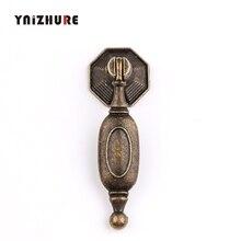 Античный сплав ручка ящика Шкаф Ручка двери китайская одно отверстие ручки мебельная фурнитура бронзовый тон, 25*67 мм, 8 шт