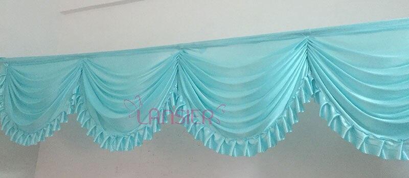 2016 nov pridelek poroka swags zavese z ruffle barvita poročna - Prazniki in zabave - Fotografija 4