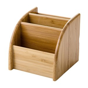Image 1 - Porte stylo en bois bureau papeterie organisateur boîte de rangement pour fournitures de bureau