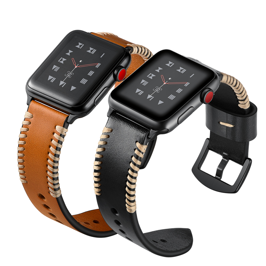 Leather Watch Bracelet For Apple Watch Band 42mm 38mm Watch Accessories Strap Wrist Watchband Series 1 2 3 38&42mm Replacement netcosy gen 1st 38mm 42mm touch screen digitizer panel replacement parts for apple watch series 1 38mm 42mm touchscreen
