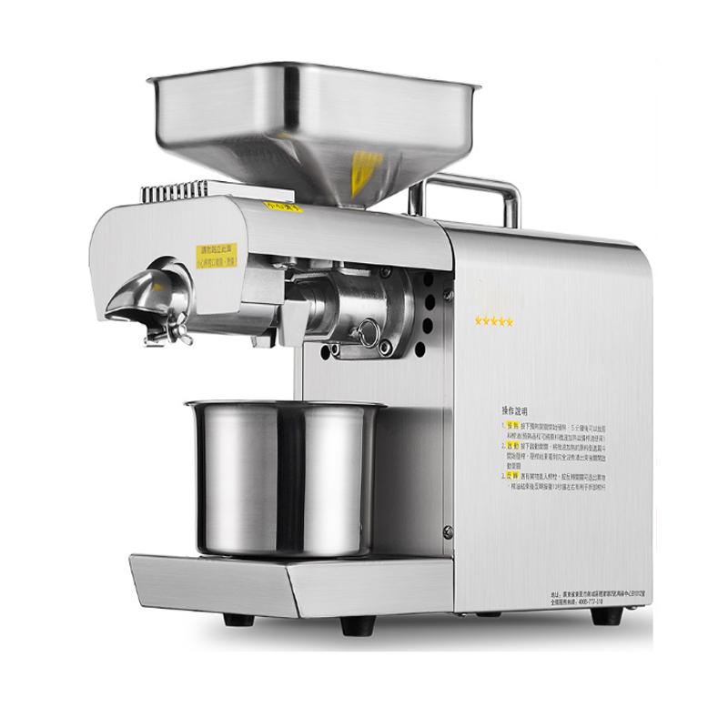 Oil Pressers Stainless steel automatic oil press maker Household small peanut oil presser 220v 600w