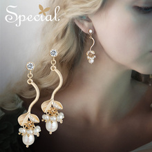 Special925 Silver Needle ear Nail Ring Decoration Pearl lining skin display face thin Sky attachment,S2049E
