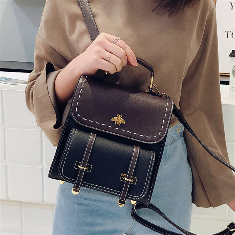 0bb9cde84c 2018 spring new hit color mini shoulder bag female Korean wild fashion  retro small backpack shoulder dual use package tide-in Backpacks from  Luggage   Bags ...
