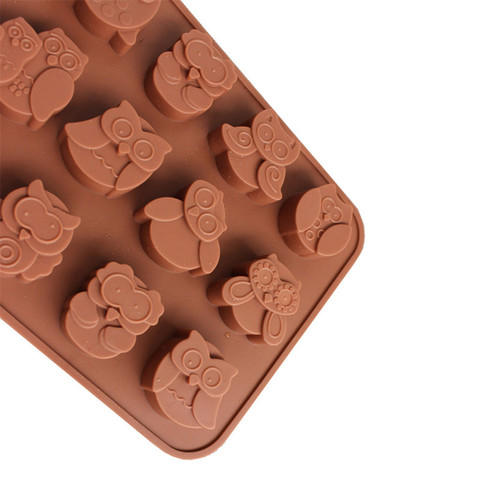 Dropshipping 12 Owls Silicone Cake Bread Chocolate Jelly Candy Baking Mould Craft Mold Islamabad