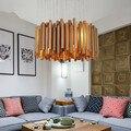 Современная роскошная Новинка, необычный Деревянный бар, комбинированный светодиодный потолочный светильник, люстра для дома, деко, гостин...