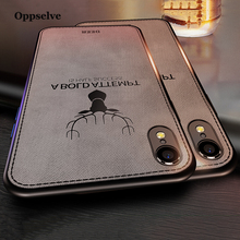 Oppselve Super Soft Phone Case For iPhone Xr Xs Max X 8 7 6 6S Plus Luxury Fabric Texture TPU Back Shell Cover iPhoneX