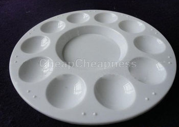 10 Wells Design White Painting Pallet Plastic Palette Color Palette For Oil Watercolour Art Paint Plastic Drawing Tray