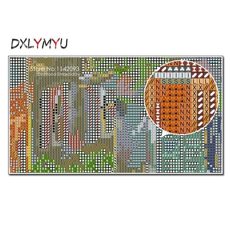 Full Square 5D Diy Diamond Embroidery Chalkboard Painting Mosaic Crafts DIY Diamond Painting Kitchen Picture Of Rhinestones in Diamond Painting Cross Stitch from Home Garden