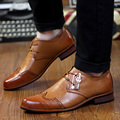 new brogue carve men's oxfords shoes british pointed toe business casual shoes fashion nightclub stylist shoes