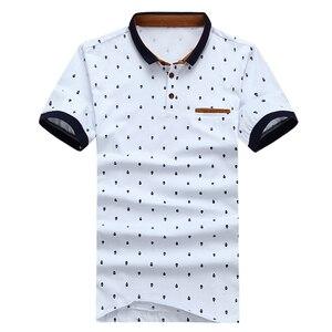 Image 3 - Miacawor nova camisa polo masculina 95% algodão verão camisa de manga curta polos moda caveira pontos impressão camisetas mt437