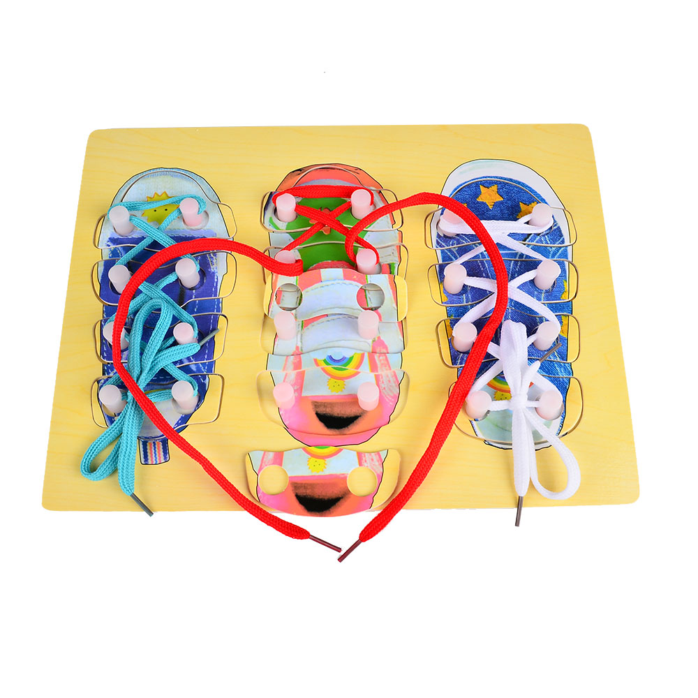 Shoes Lacing Montessori Educational Toys Children 3 4 5 ...