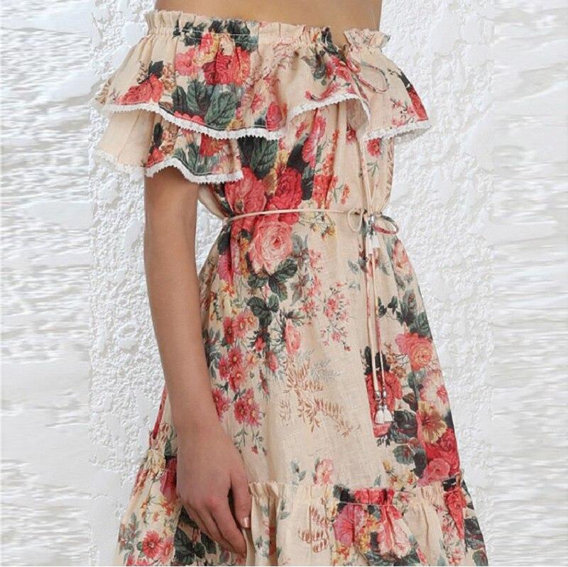 Femmes De Sans Robes Boho Partie Bretelles Sexy Mini Robe Plage 2018 Encolure Femme Floral Vêtements D'été Tunique Ruches xZO4n4HY