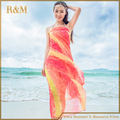 2016 Summer Print Silk Scarf Oversized Chiffon Scarf Women Wrap Sarong Sunscreen Pareo Beach Cover Up Long Cape Female