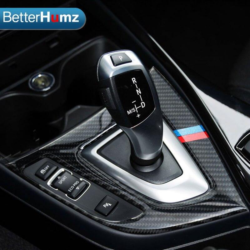 For Bmw F20 F21 Carbon Fiber Gear Shift Control Panel Cover Interior