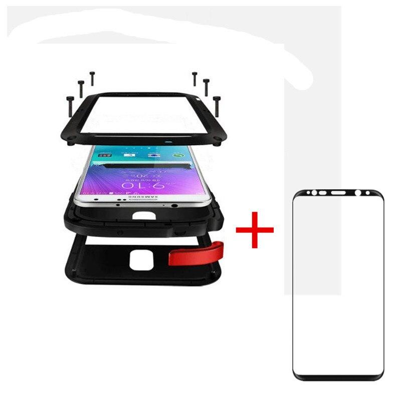 AKASO 360 grados cubierta completa de lujo Doom Armor Metal aluminio caso del teléfono celular para Samsung Galaxy S7 S8 más s7 borde