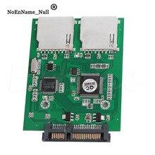 2 порта двойной SD SDHC MMC RAID в SATA конвертер адаптер для любой емкости SD карты дропшиппинг