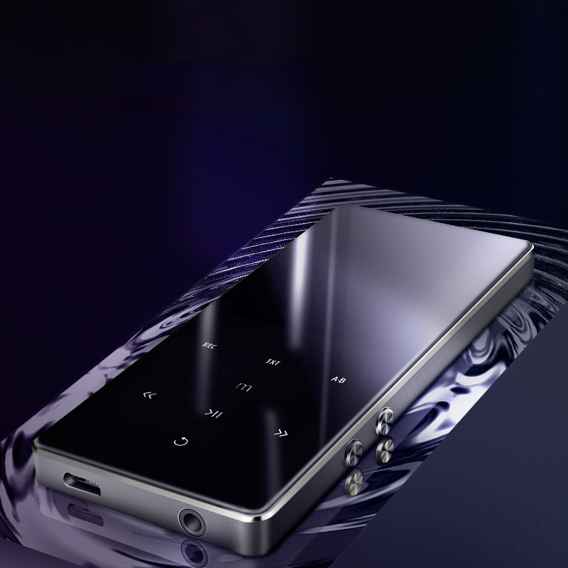 Bluetooth 4.2 Metal MP3 Player 2.4 Inch Screen Lossless Music Mini MP3 Portable HIFI Audio Players Record FM Radio E-book Video