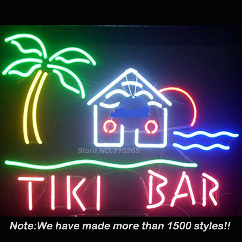 tiki bar neon sign real glass neon sign neon bulbs store. Black Bedroom Furniture Sets. Home Design Ideas