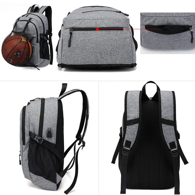 USB Basketball Backpack Gym Fitness Bag Sporttas Net Ball Bags for Men Sports Sac De Sport Tas Men's School Boys Pack XA414WA 5