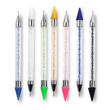 Dual-ended 1 Pc Dotting Pen Rhinestone Studs Picker Wax Pencil Crystal Beads Handle Nail Art Tool