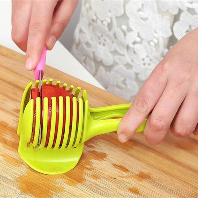 ABS Plástico Cortador de Legumes Slicer Tomate Laranja Limão Frutas Cortador de Bolo Faca Titular Ferramenta Gadgets de Cozinha Fruta Vegetal