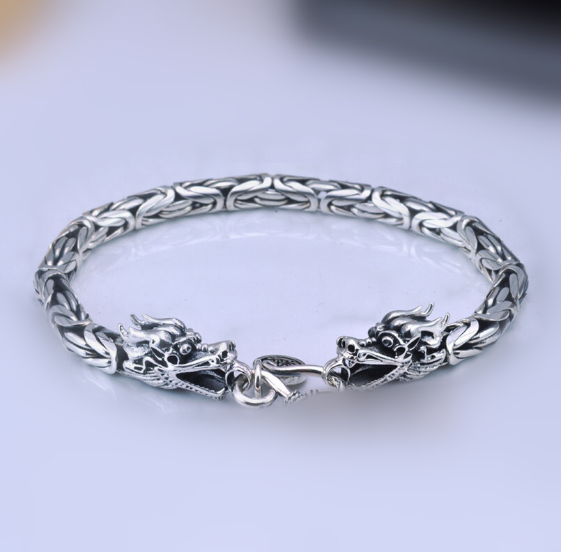 Brand New Thai Silver Dragon Bracelet Corsair 925 Sterling