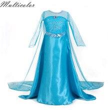 Лидер продаж детское платье принцессы Эльзы и Анны нарядные платья Fantasia Vestidos Infants летние детские повседневные платья