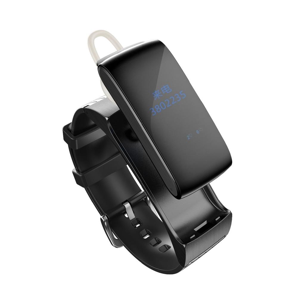 Smarcent Talk band DF22 Fitness Tracker Bluetooth Smartband Bracelet Wristband Smart Band Sleep Monitor For xiaomi huawei phone