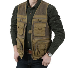 2016 qualität Männer Mesh Kausalen Weste Armee Militärische Weste Jacken Fotografie Oberbekleidung Schießen Weste Plus Größe