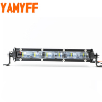 YAMYFF 7 Inch 12V LED Work Car Light Bar Spotlight Flood Lamp Driving Fog Offroad for Ford Toyota SUV 4WD LED Beams Work Light