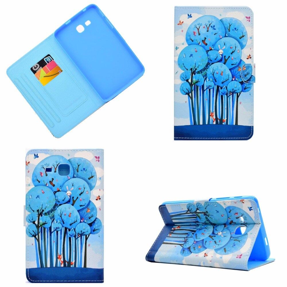 For Samsung Galaxy Tab 3 lite 7.0 T110 Case, Printing Smart Cover Case for Samsung Tab 3 lite 7 T110 T111 T113 T116 funda Cases планшеты samsung tab
