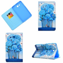 купить For Samsung Galaxy Tab 3 lite 7.0 T110 Case, Printing Smart Cover Case for Samsung Tab 3 lite 7 T110 T111 T113 T116 funda Cases
