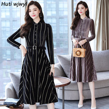 8af699a00db3c97 2018 осенне-зимние новые винтажные миди платья больших размеров корейские  женские облегающие золотистое бархатное платье
