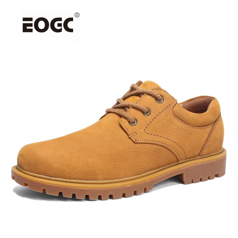 Ročno obutev moški polnozrnati moški čevlji, super kul škornji, visokokakovostni jesenski moški delovni čevlji Dropshipping