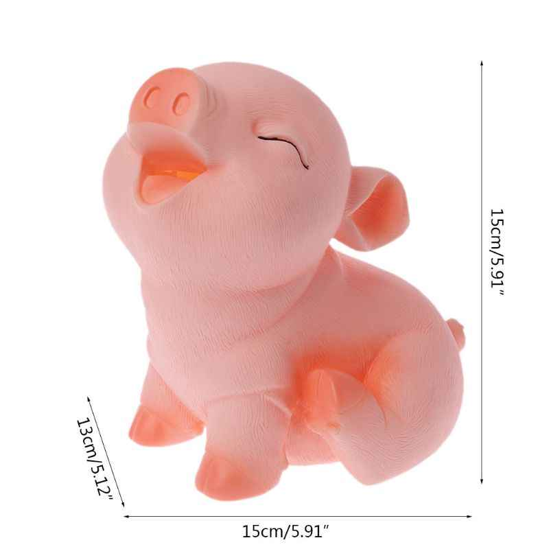 Resin Craft Pig Piggy Bank Coin Money Cash Collectible Saving Box Toy Child Gift