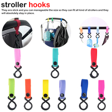 Baby Stroller Accessories Strong Infant Pushchair Hook Strap Hanger Newborn Carriage Trolley Handrail Hooks durable infant baby pushchair hangers outdoor convenient stroller length adjustable hooks for hanging exquisite design