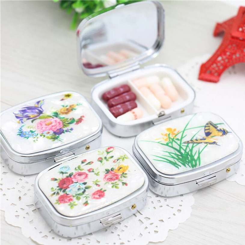 Folding Pill Case Container For Medicines Organizer Metal Pill Box Portable Pill Cutter Splitters Pastilleros Pildoras Estuche