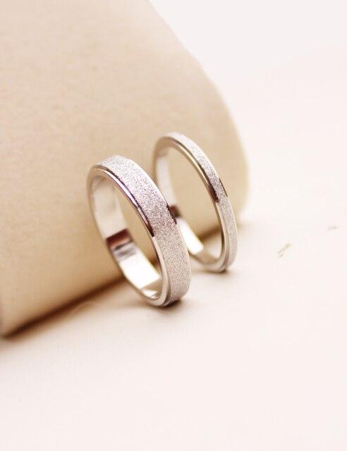 Never fading Titanium lovers 2 4mm thick ring finger ring men women