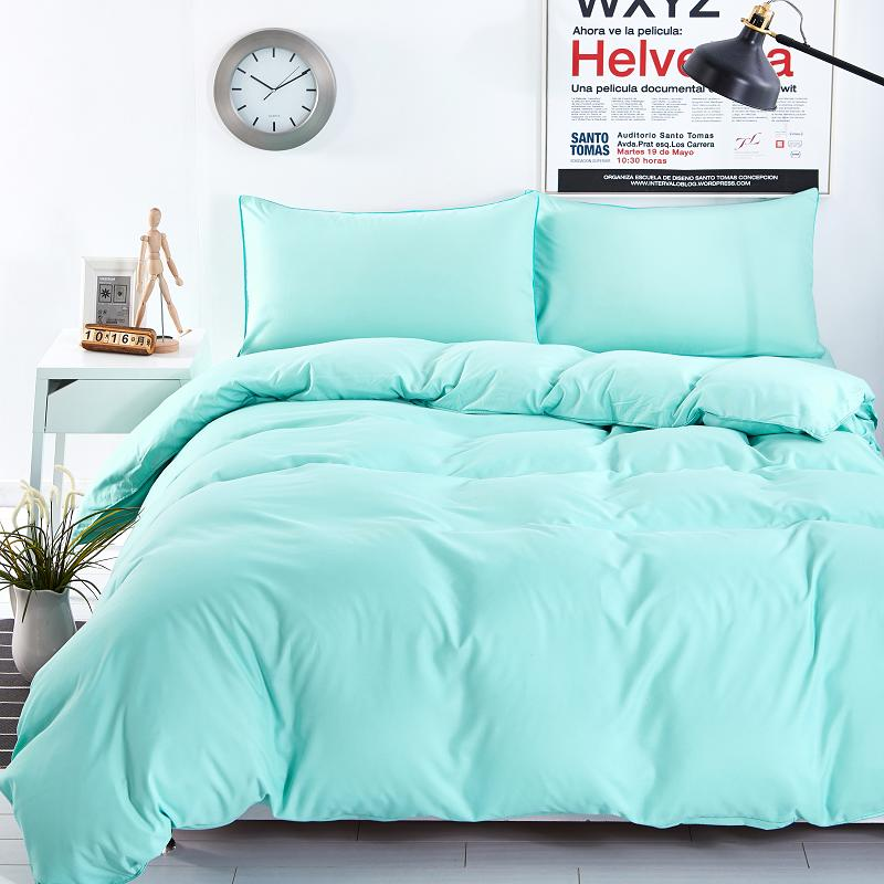 New Design Solid Color 3 4 Bedding Sets Of Mattresses Bedspread Flat Pillowcase Full Queen King Super Siz In From Home