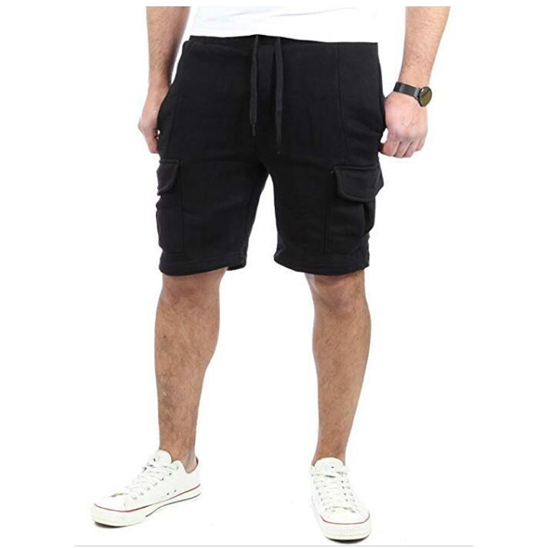 2019 New Five-piece Men's Casual Multi-pocket Baggy Straight Leg Shorts Men's Hip-hop Sport Cargo Shorts