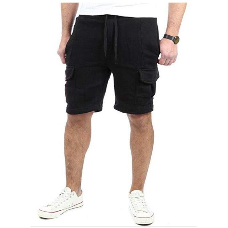 2019 New Five-piece Men's Casual Multi-pocket Baggy Straight leg   Shorts   Men's Hip-hop Sport Cargo   Shorts