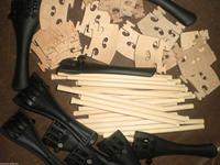 20 PCs Violin Sound Post &amp 10 PCs Violin Bridge 4/4 &amp 10 PCs Carbon Tailpiece