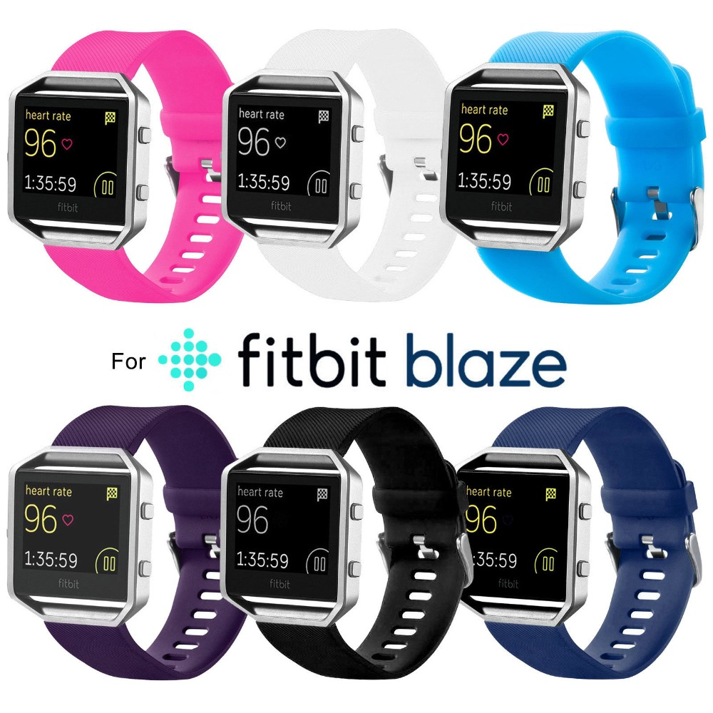 New High Quality Large Size Various Colors Soft Silicone Watch Band Wrist Strap For Fitbit Blaze Smart Watch FBBZOSSB
